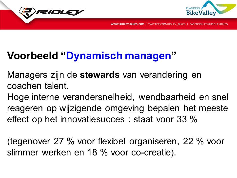 Voorbeeld Dynamisch managen