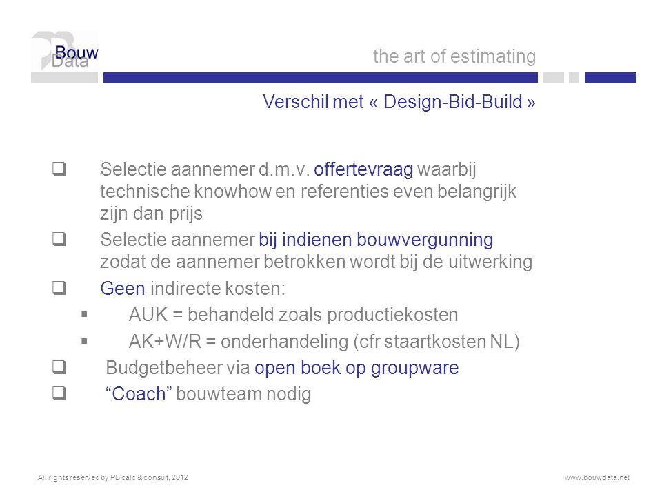 Verschil met « Design-Bid-Build »