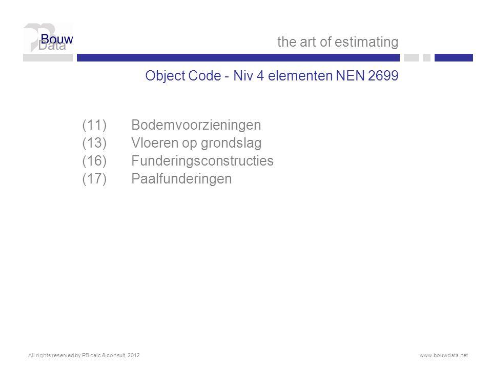 Object Code - Niv 4 elementen NEN 2699