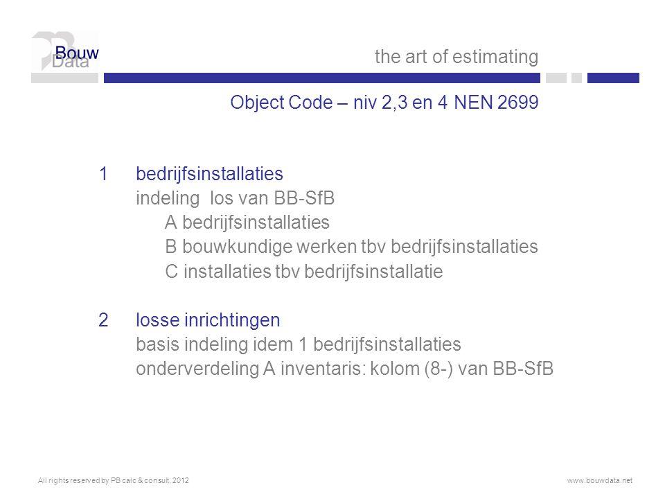 1 bedrijfsinstallaties indeling los van BB-SfB A bedrijfsinstallaties