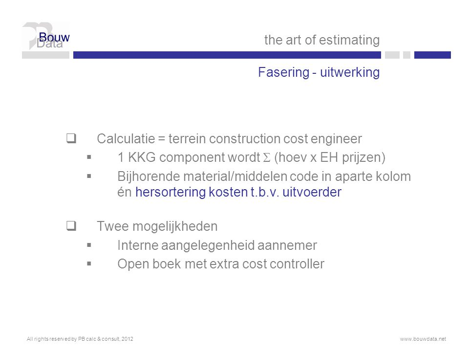 Calculatie = terrein construction cost engineer