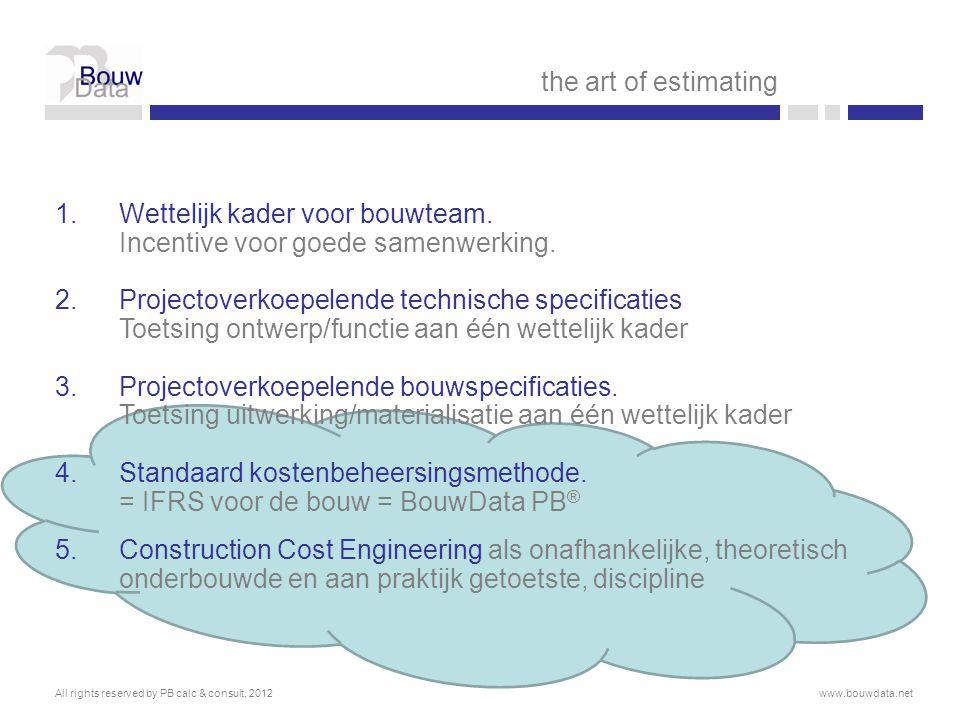 Wettelijk kader voor bouwteam. Incentive voor goede samenwerking.
