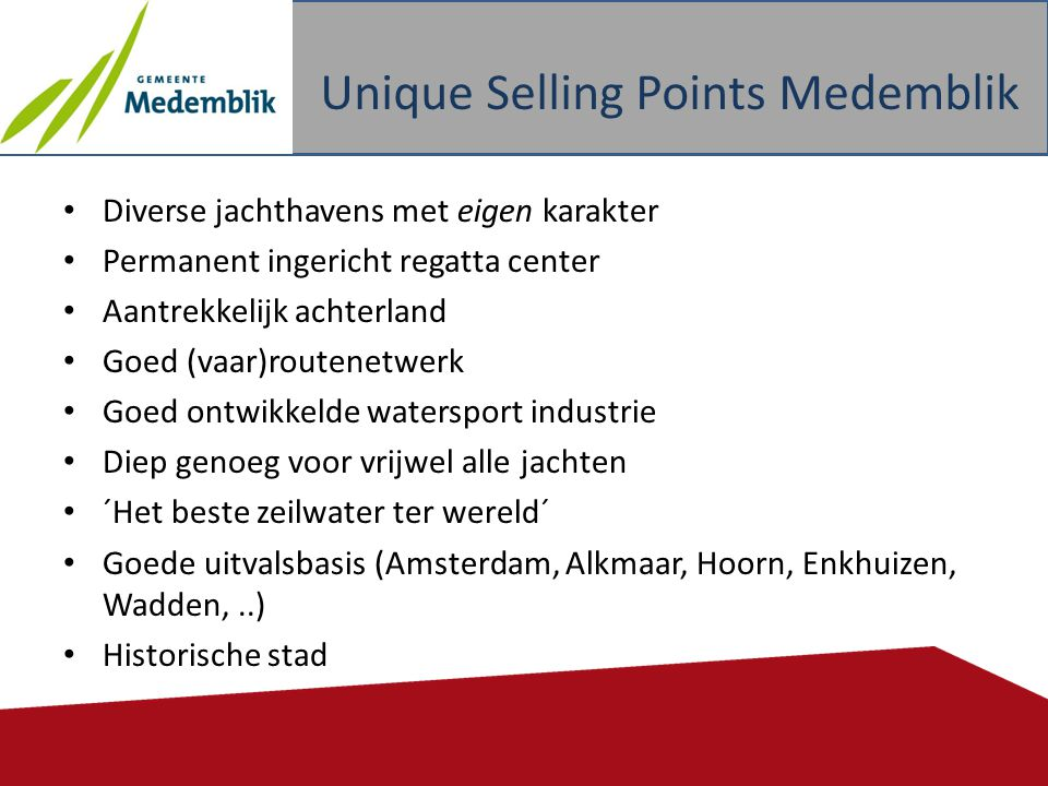 Unique Selling Points Medemblik
