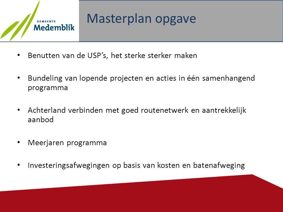 Masterplan opgave Benutten van de USP's, het sterke sterker maken