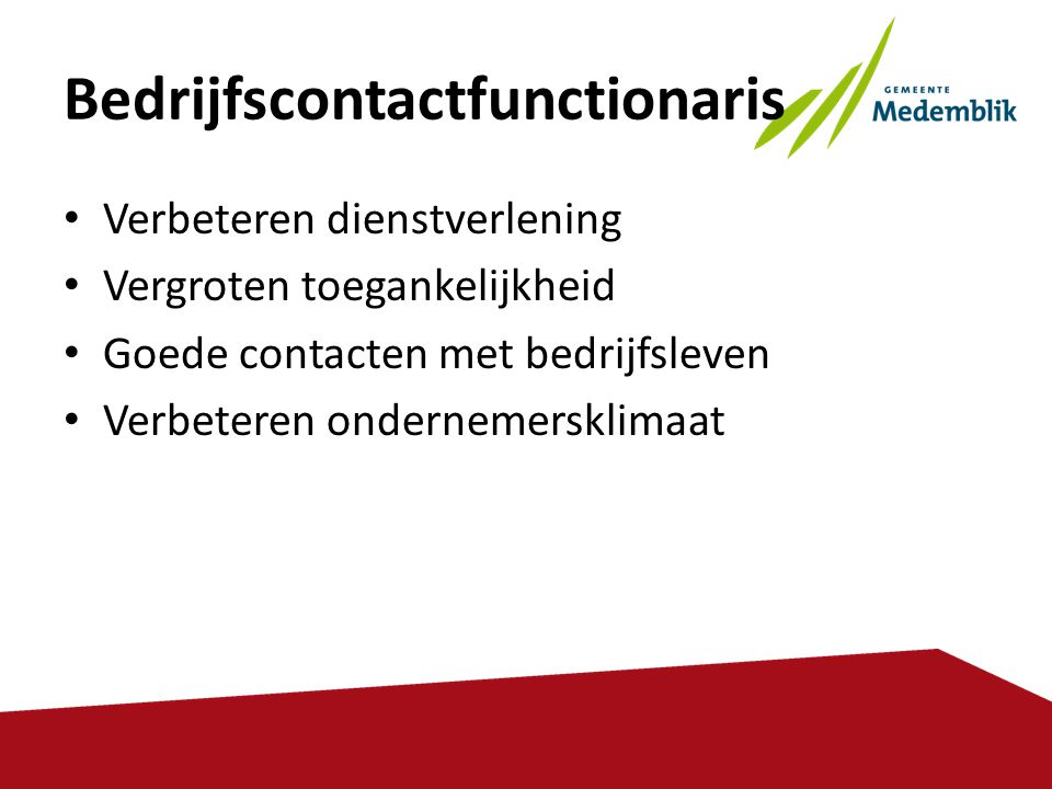 Bedrijfscontactfunctionaris