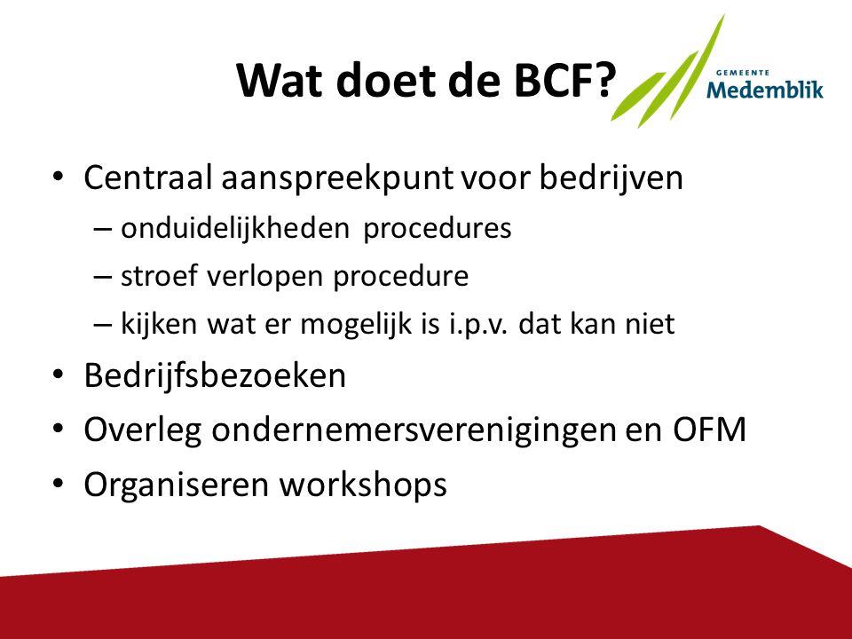 Wat doet de BCF Centraal aanspreekpunt voor bedrijven