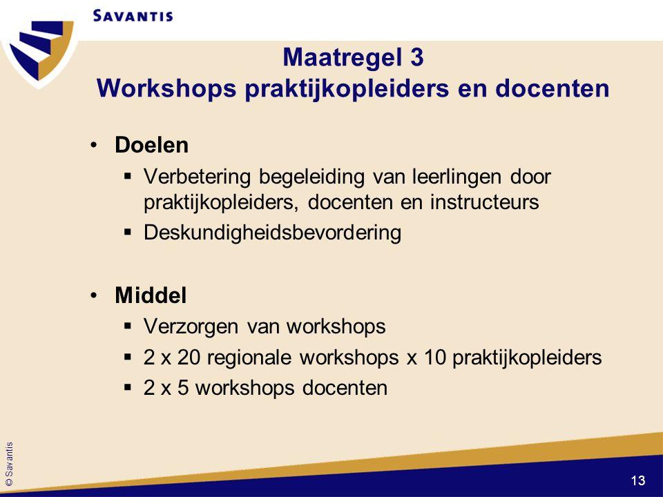 Maatregel 3 Workshops praktijkopleiders en docenten