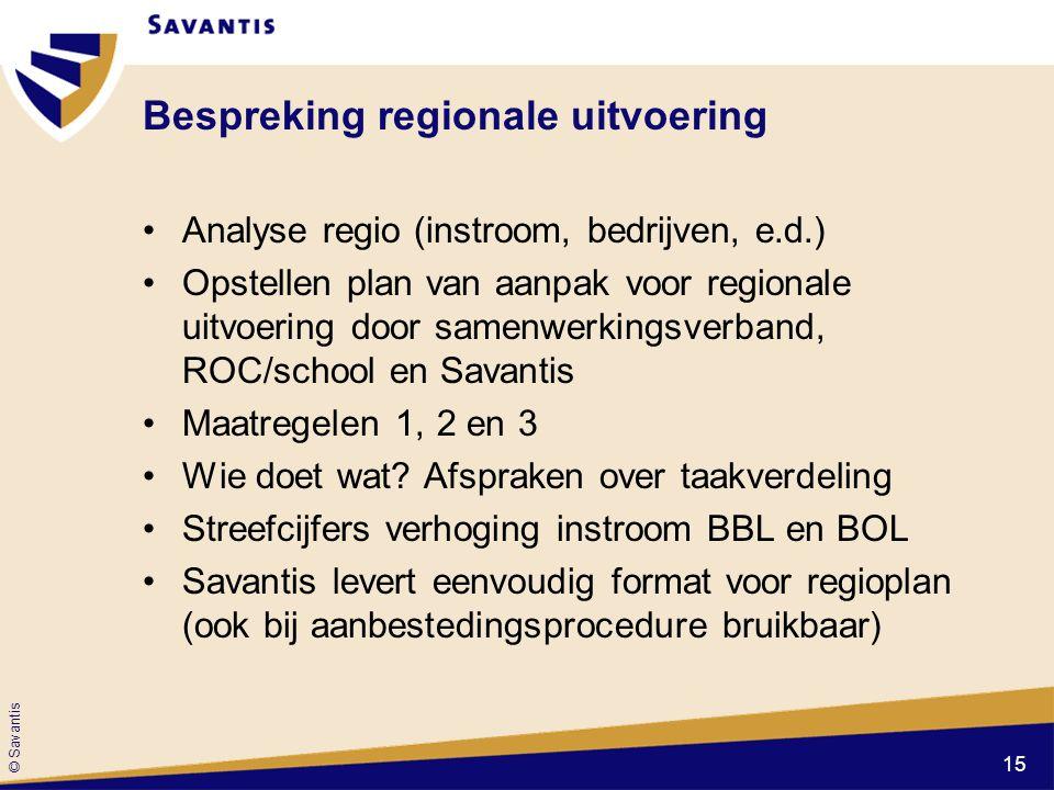 Bespreking regionale uitvoering
