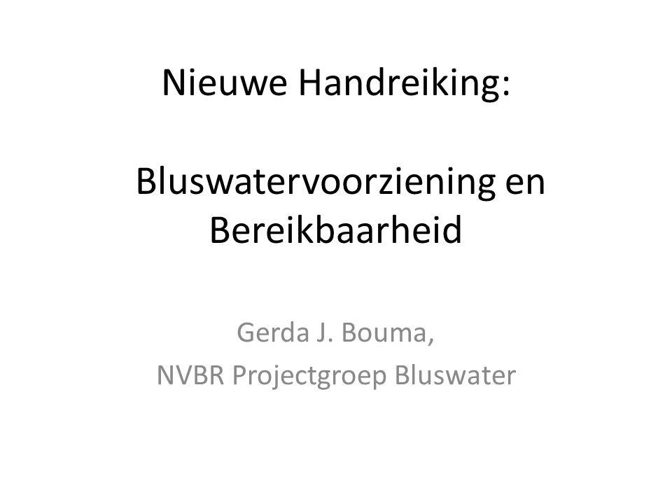 Nieuwe Handreiking: Bluswatervoorziening en Bereikbaarheid