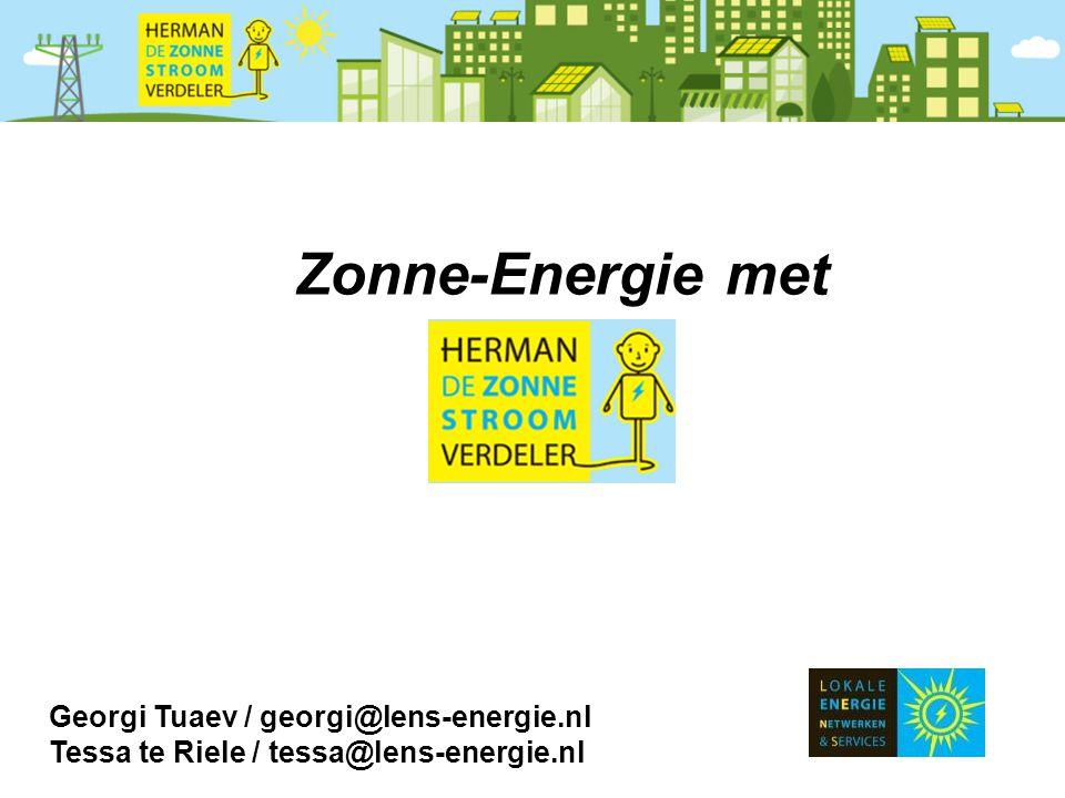Zonne-Energie met Georgi Tuaev / georgi@lens-energie.nl