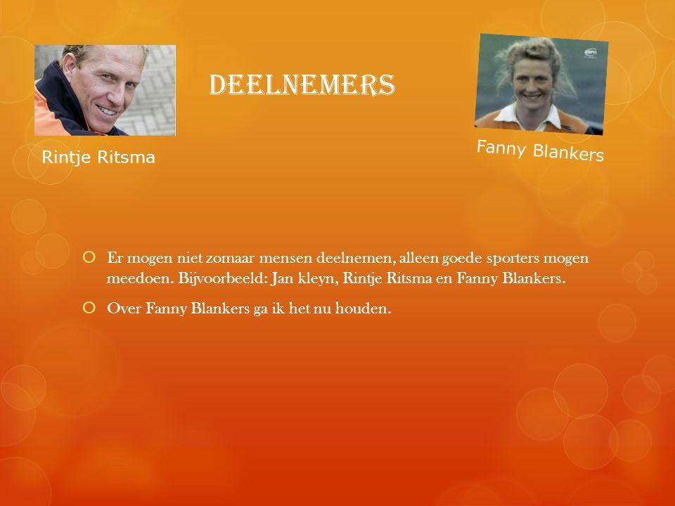 deelnemers Fanny Blankers Rintje Ritsma