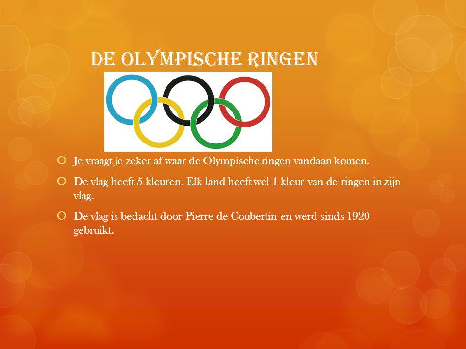 de olympische ringen Je vraagt je zeker af waar de Olympische ringen vandaan komen.