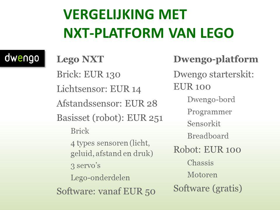 VERGELIJKING MET NXT-PLATFORM VAN LEGO