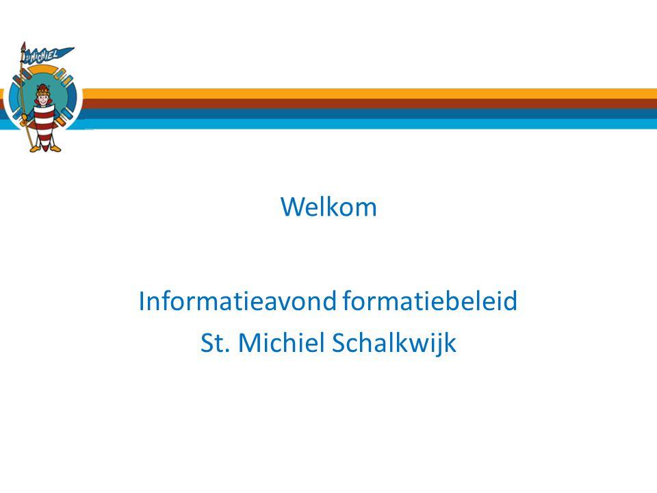 Informatieavond formatiebeleid St. Michiel Schalkwijk