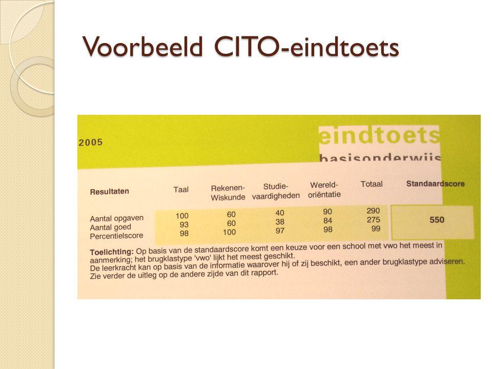 Voorbeeld CITO-eindtoets
