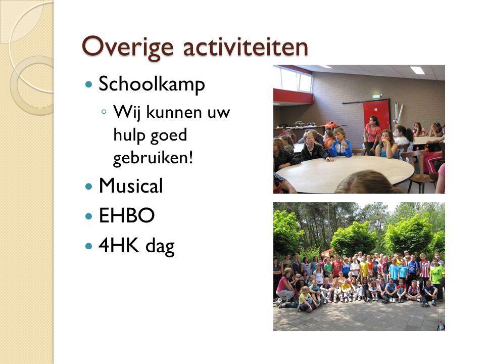 Overige activiteiten Schoolkamp Musical EHBO 4HK dag