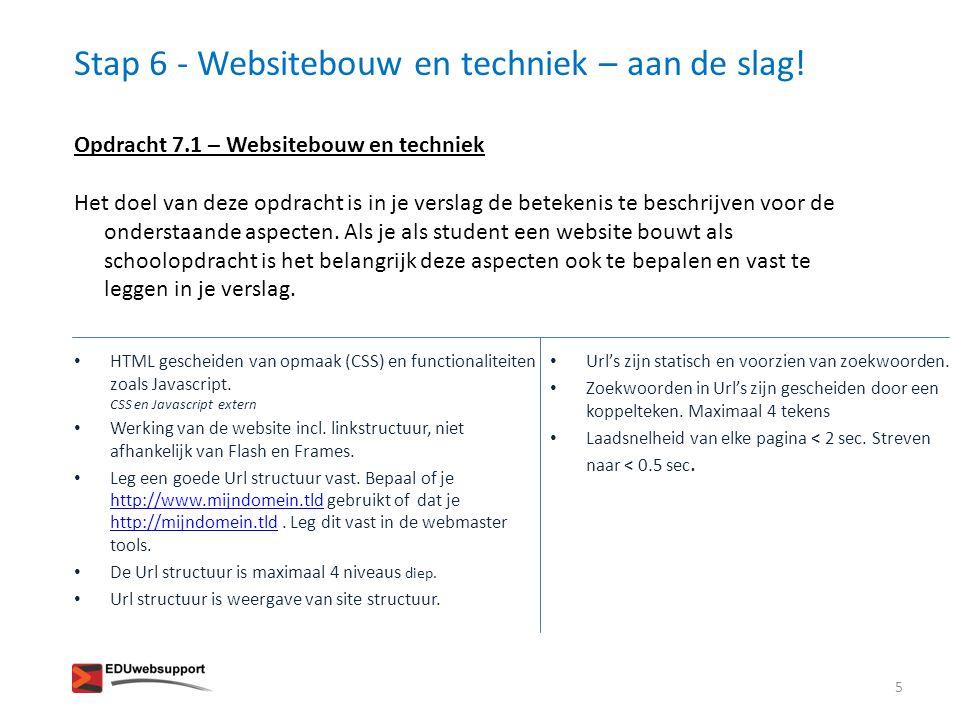 Stap 6 - Websitebouw en techniek – aan de slag!