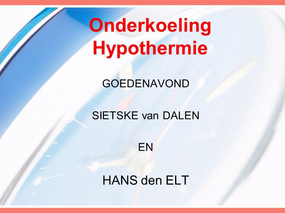 Onderkoeling Hypothermie