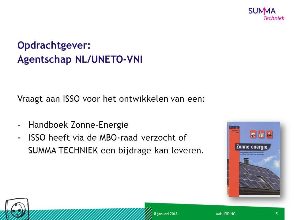 Opdrachtgever: Agentschap NL/UNETO-VNI