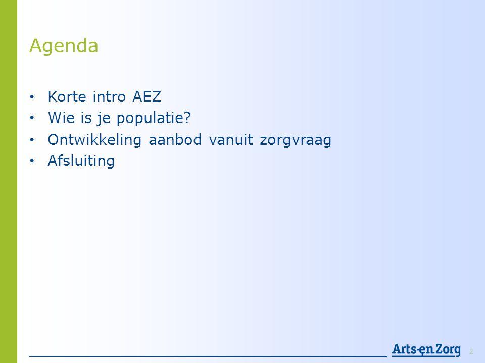 Agenda Korte intro AEZ Wie is je populatie