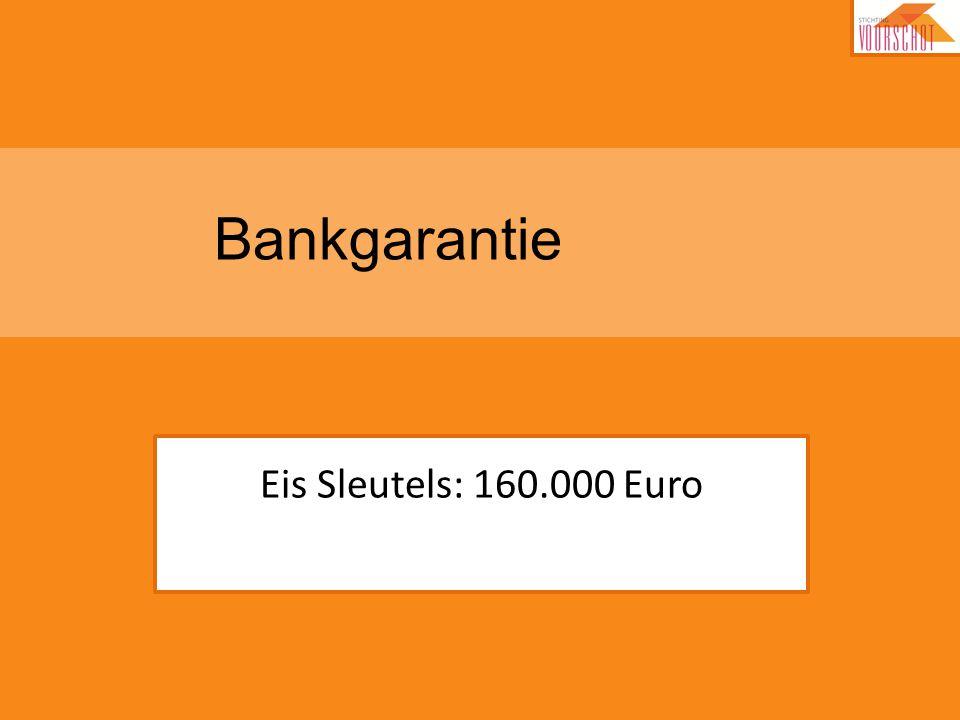 Bankgarantie Eis Sleutels: 160.000 Euro