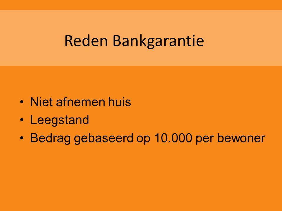 Reden Bankgarantie Niet afnemen huis Leegstand