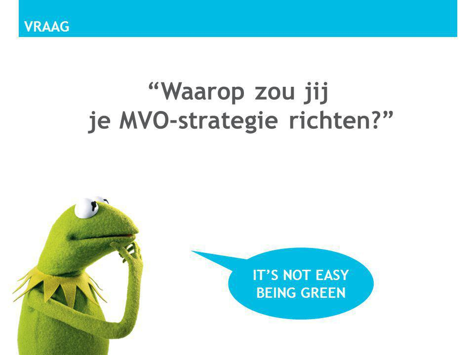 Waarop zou jij je MVO-strategie richten It's not easy being green