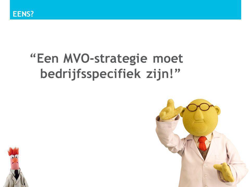 Een MVO-strategie moet bedrijfsspecifiek zijn!