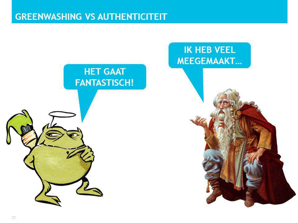 Greenwashing vs Authenticiteit