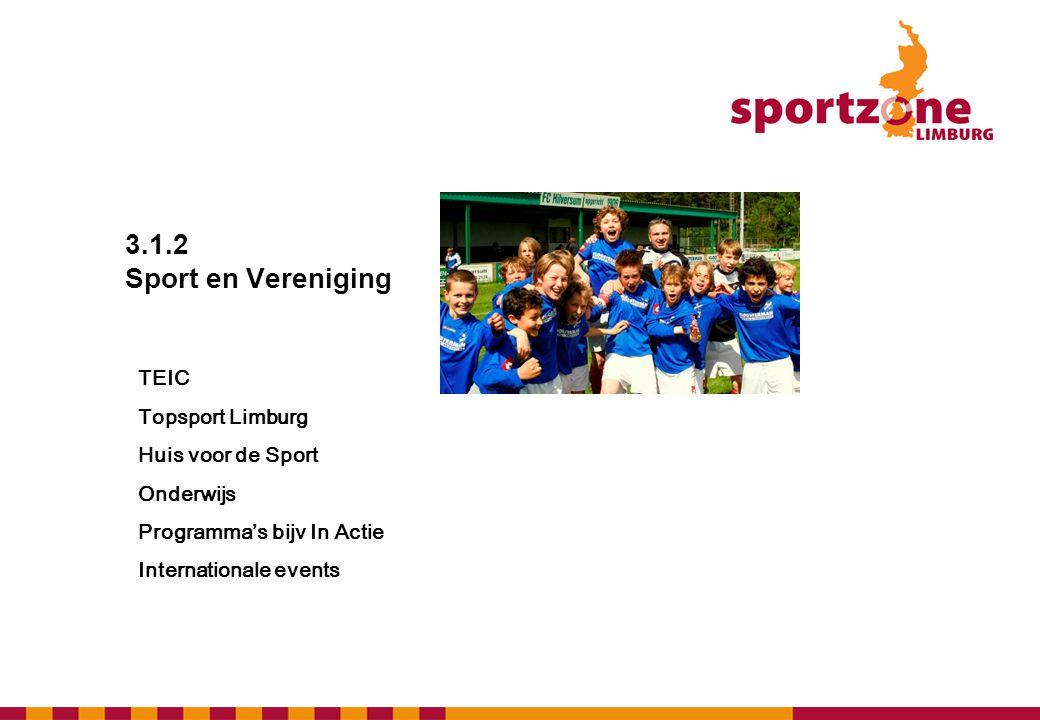 3.1.2 Sport en Vereniging TEIC Topsport Limburg Huis voor de Sport