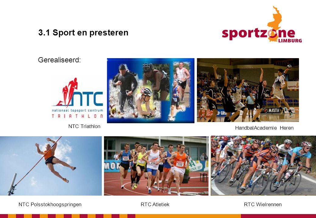 3.1 Sport en presteren Gerealiseerd: NTC Triathlon