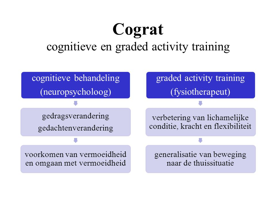 Cograt cognitieve en graded activity training