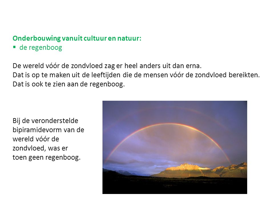 Onderbouwing vanuit cultuur en natuur: