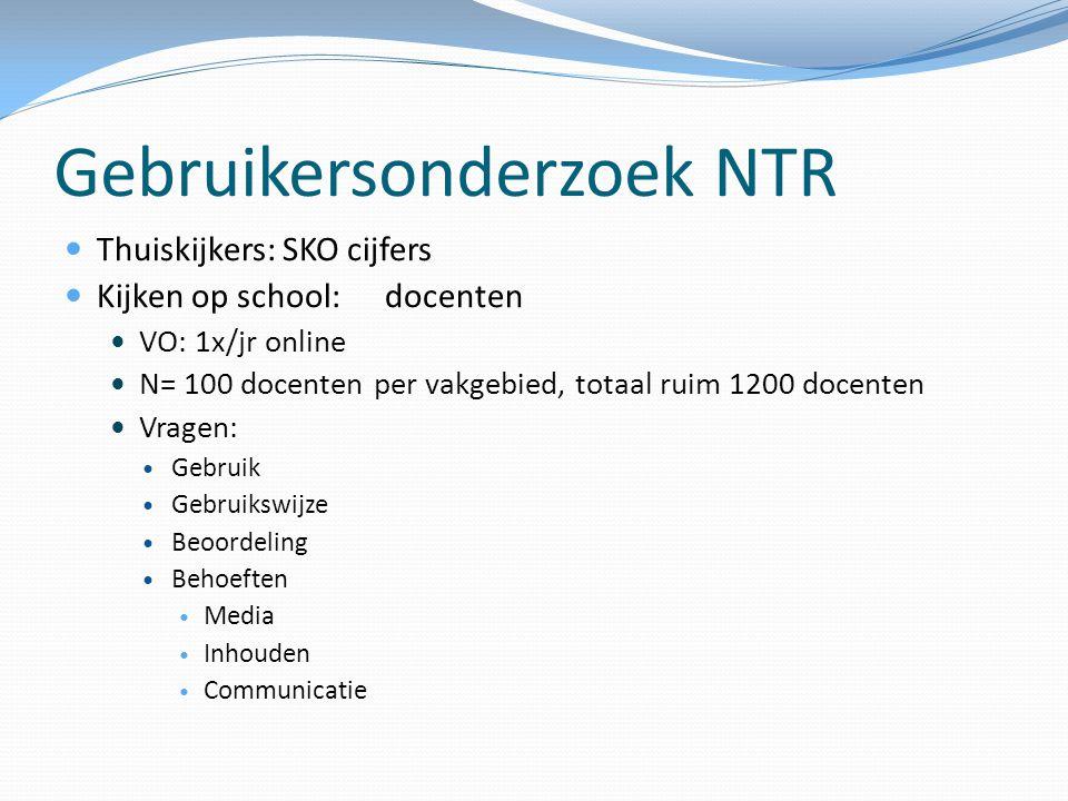 Gebruikersonderzoek NTR