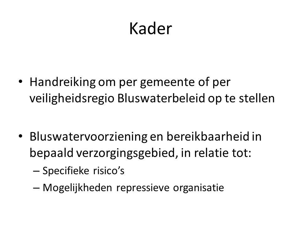 Kader Handreiking om per gemeente of per veiligheidsregio Bluswaterbeleid op te stellen.