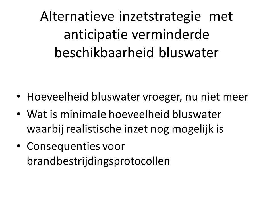 Alternatieve inzetstrategie met anticipatie verminderde beschikbaarheid bluswater