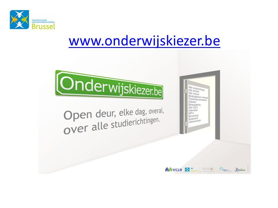 www.onderwijskiezer.be Alle info te vinden op www.onderwijskiezer.be