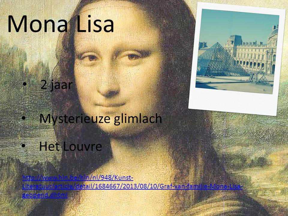 Mona Lisa 2 jaar Mysterieuze glimlach Het Louvre