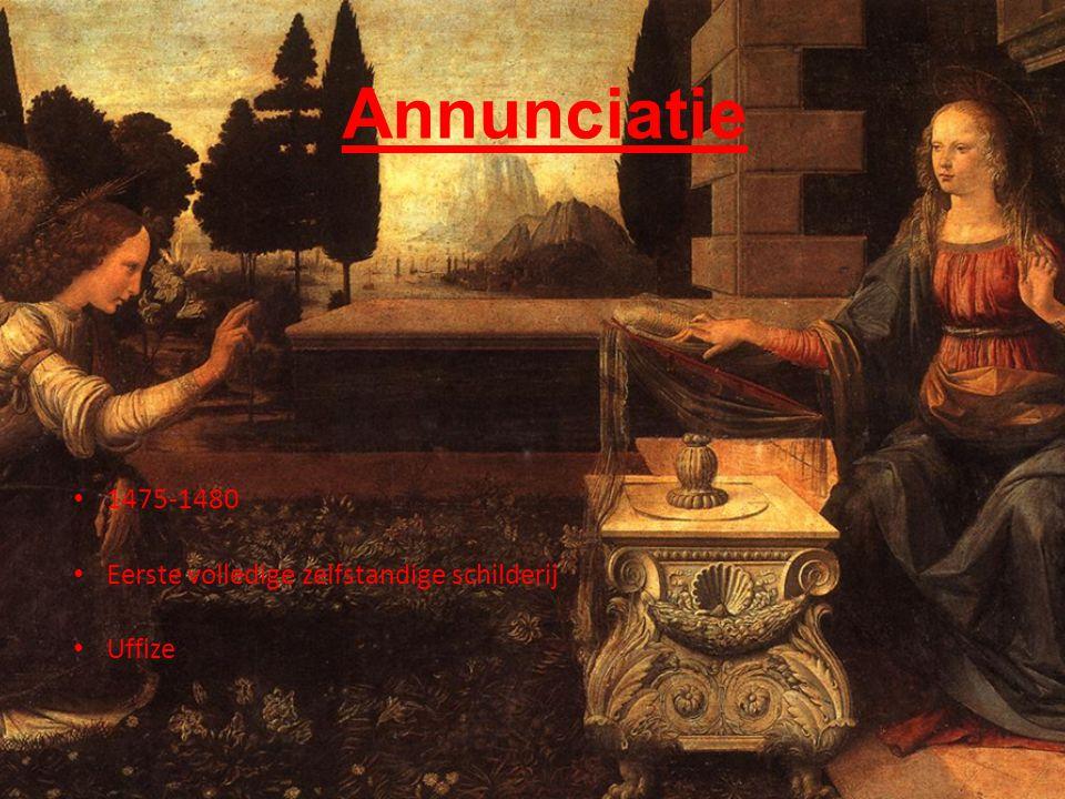 Annunciatie 1475-1480 Eerste volledige zelfstandige schilderij Uffize