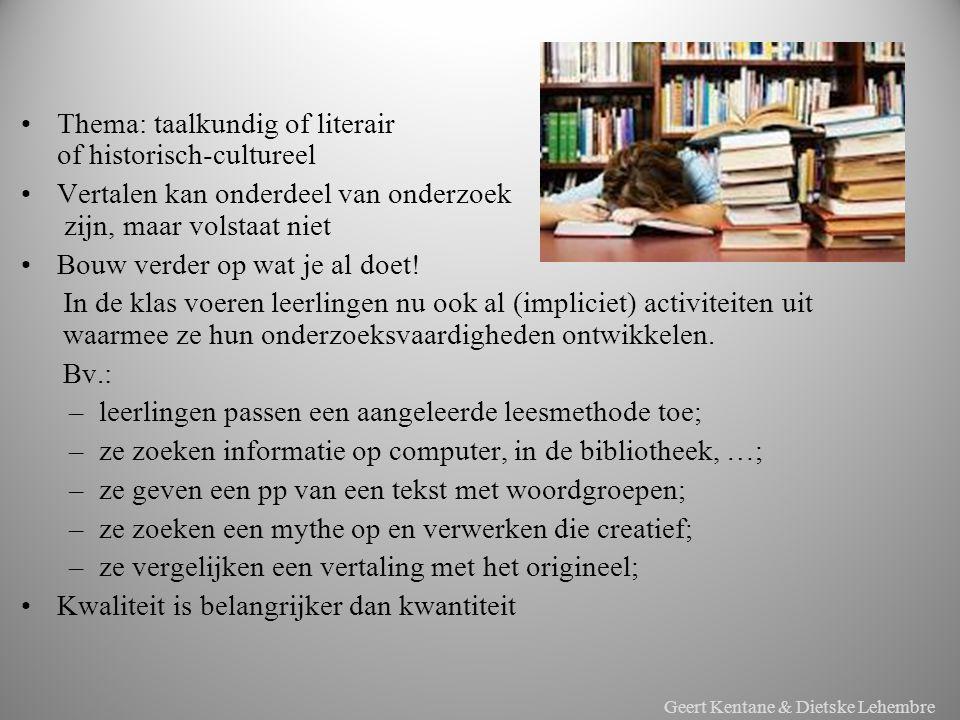 x Thema: taalkundig of literair of historisch-cultureel