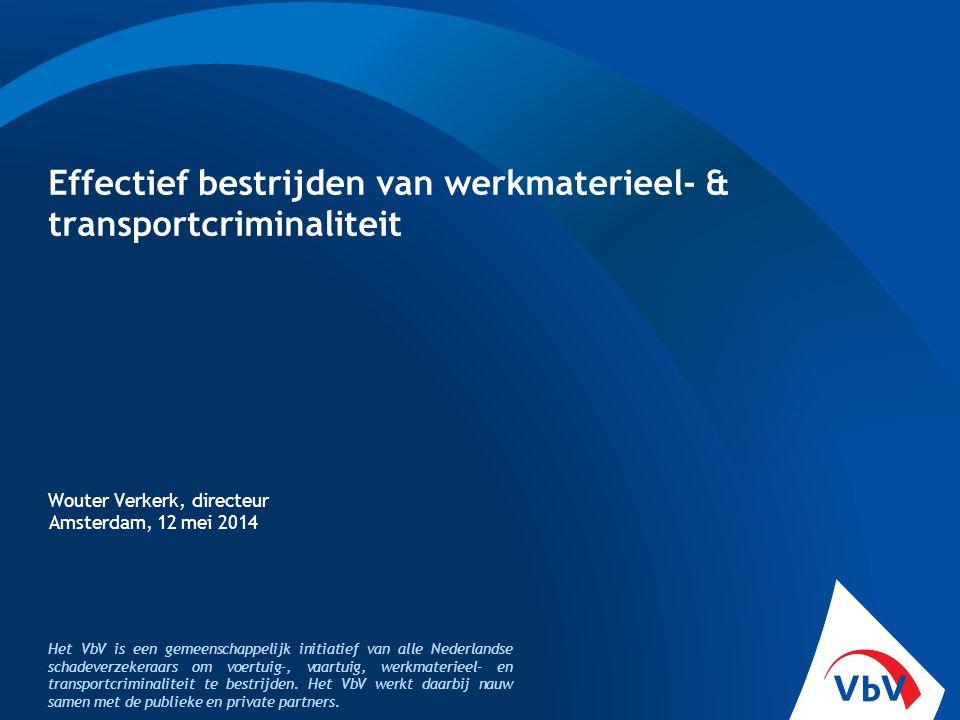 Effectief bestrijden van werkmaterieel- & transportcriminaliteit