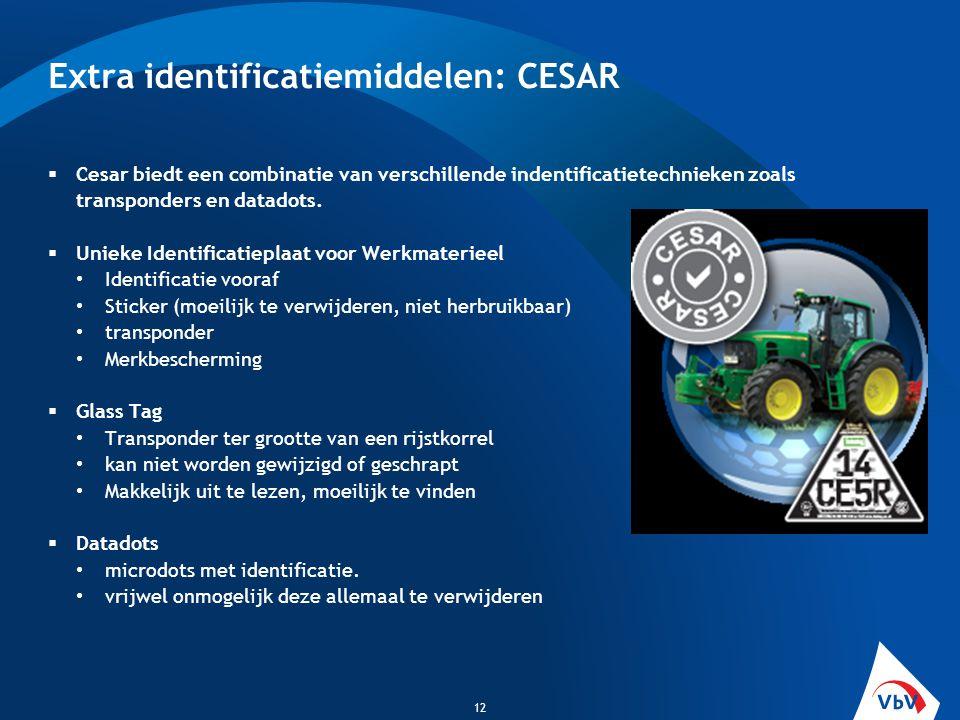 Extra identificatiemiddelen: CESAR