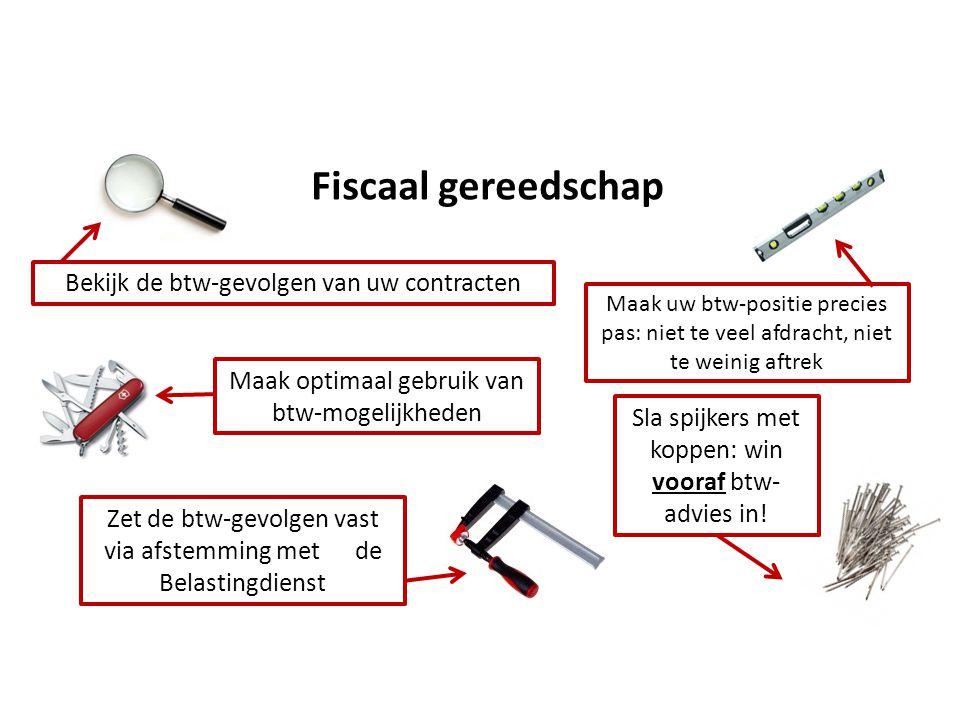 Fiscaal gereedschap Bekijk de btw-gevolgen van uw contracten