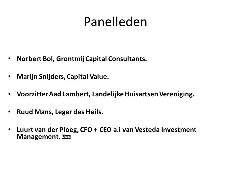 Panelleden Norbert Bol, Grontmij Capital Consultants.