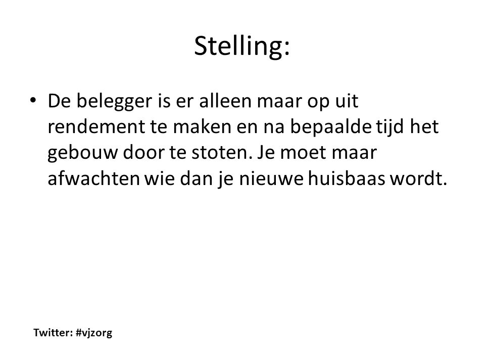Stelling: