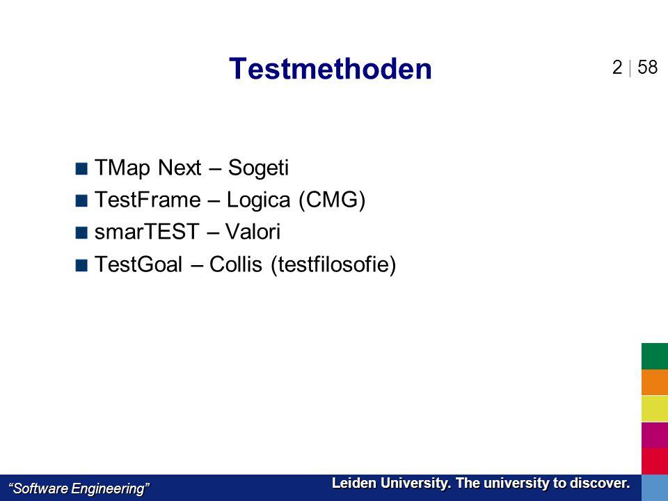Testmethoden TMap Next – Sogeti TestFrame – Logica (CMG)