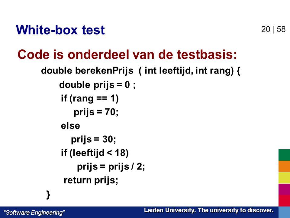 Code is onderdeel van de testbasis: