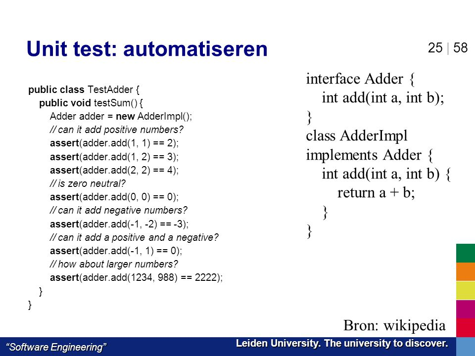 Unit test: automatiseren