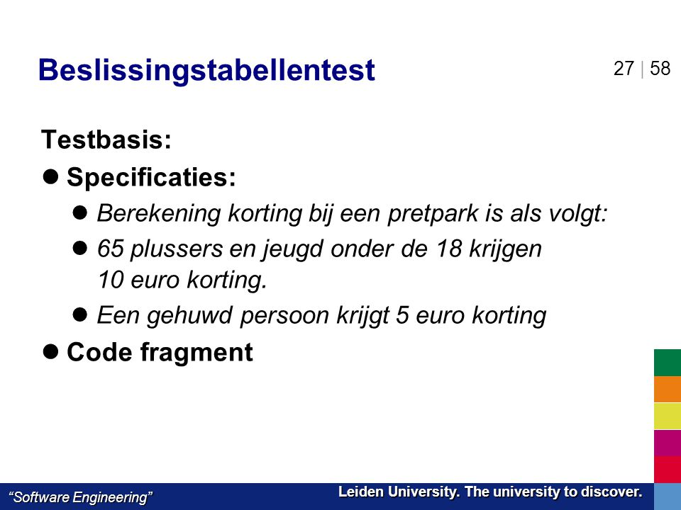 Beslissingstabellentest