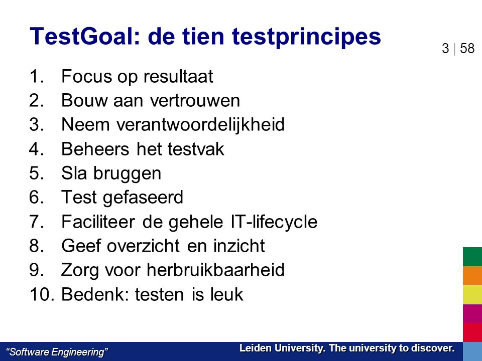 TestGoal: de tien testprincipes